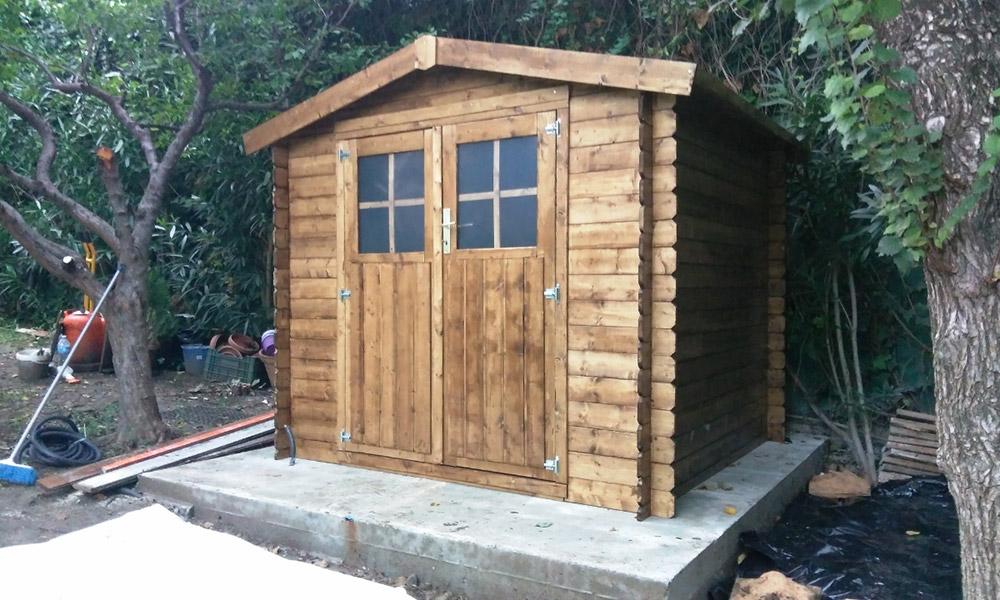 Casetas de jardín madera composite en Málaga y Marbella