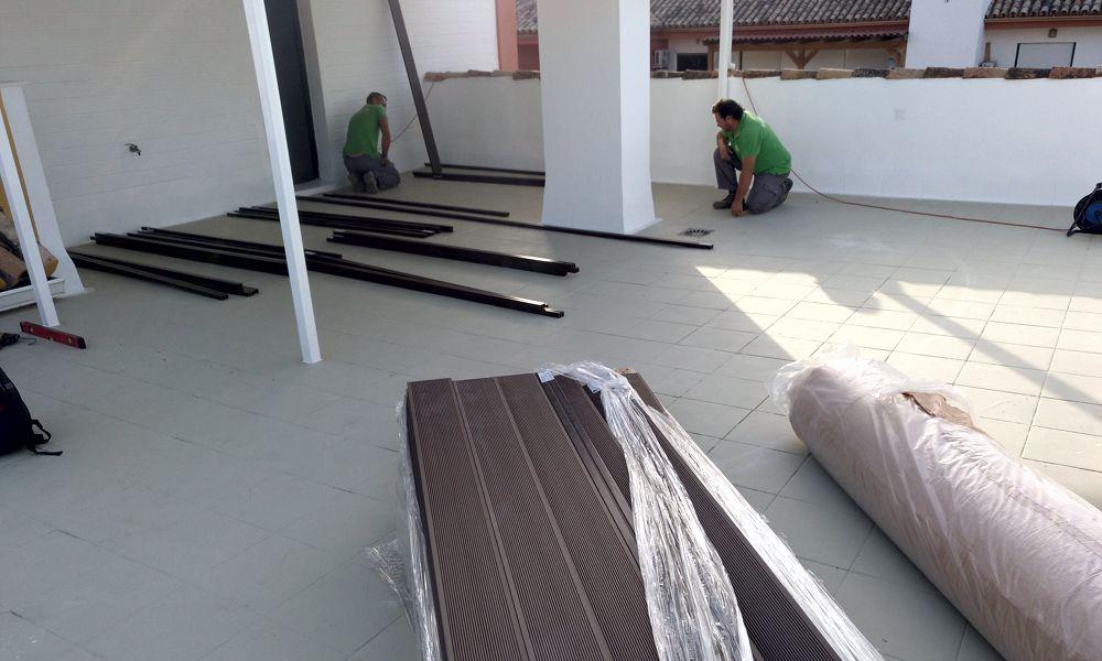 Instalación de tarima de composite en Marbella San Pedro Málaga