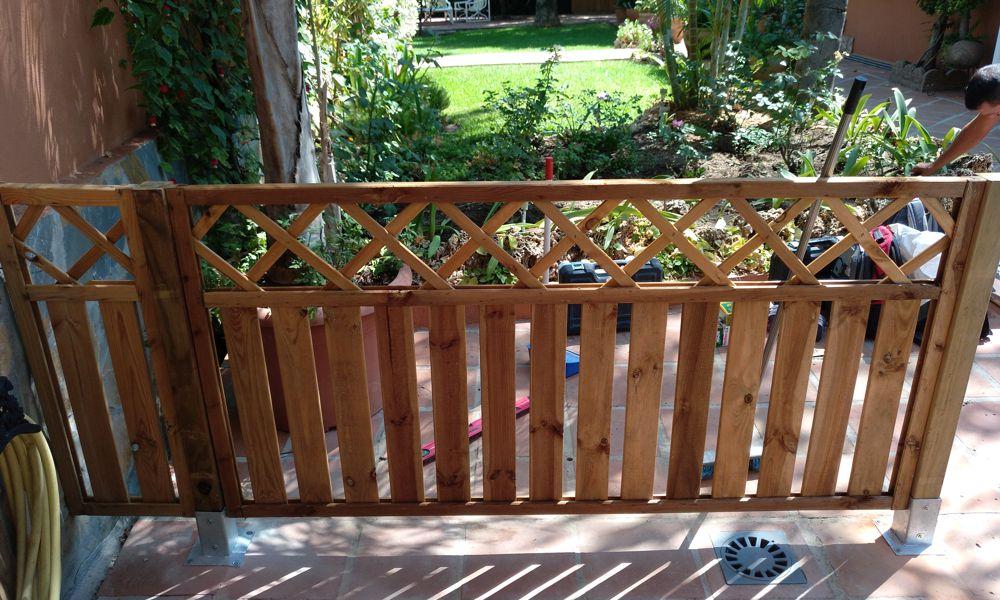 valla para jardín Marbella